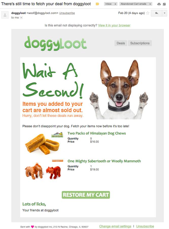doggyloot-abandoned-cart